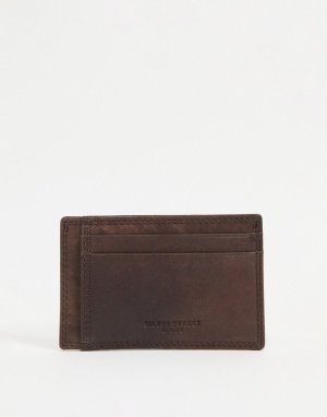 Кожаный кошелек для пластиковых карт -Коричневый цвет Silver Street