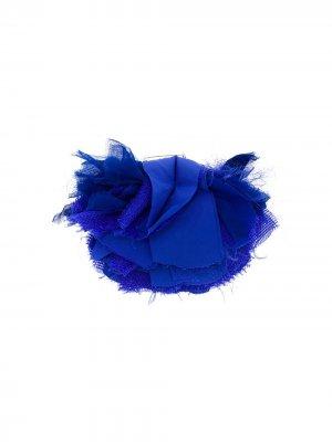 Брошь в виде цветка с бахромой LANVIN. Цвет: синий