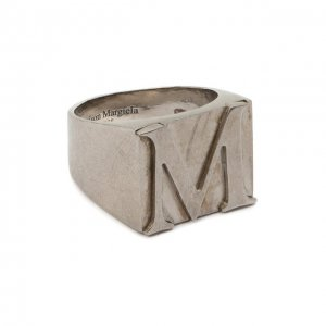 Серебряное кольцо Maison Margiela. Цвет: серебряный
