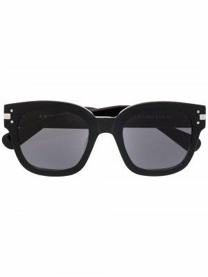 Солнцезащитные очки в квадратной оправе с логотипом AMIRI. Цвет: черный