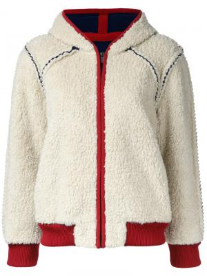 Куртка-бомбер на молнии Chanel Vintage. Цвет: красный