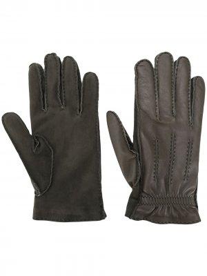 Перчатки со вставками Brunello Cucinelli. Цвет: зеленый
