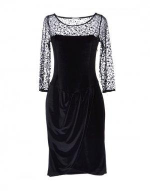 Короткое платье BURANI COLLEZIONI. Цвет: черный