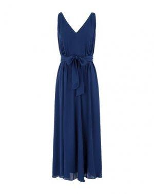 Длинное платье DONNA KARAN. Цвет: синий