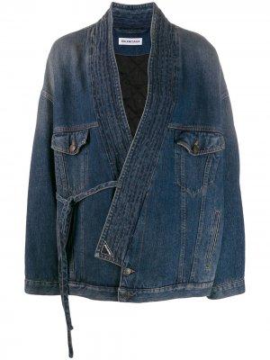 Джинсовая куртка Judo Balenciaga. Цвет: синий
