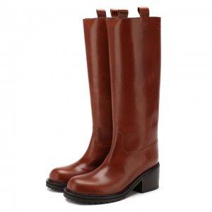 Кожаные сапоги A.F.Vandevorst. Цвет: коричневый