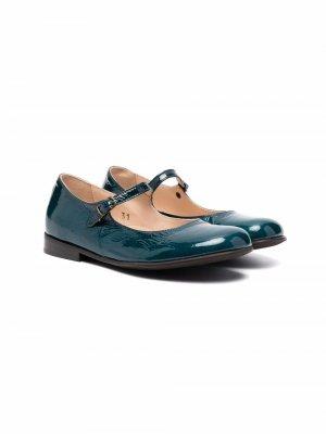 Лакированные туфли с пряжками Pèpè. Цвет: зеленый