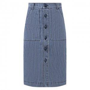 Хлопковая юбка Jacob Cohen. Цвет: синий