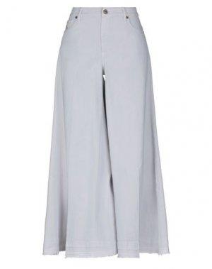 Повседневные брюки AVANTGAR DENIM by EUROPEAN CULTURE. Цвет: светло-серый