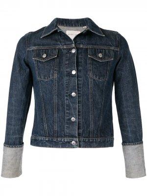 Джинсовая куртка 1990-х годов с отворотами на рукавах Helmut Lang Pre-Owned. Цвет: синий