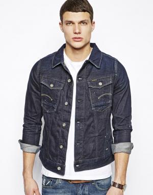 Темная джинсовая куртка G-Star. Цвет: темно-синий