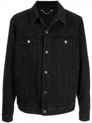 Джинсовая куртка на пуговицах Golden Goose. Цвет: черный