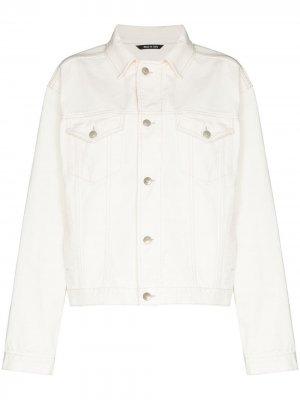 Джинсовая куртка на пуговицах Maison Margiela. Цвет: белый