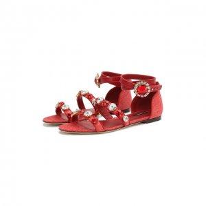 Комбинированные сандалии Bianca Dolce & Gabbana. Цвет: красный