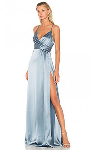Вечернее платье с запахом JILL STUART. Цвет: синий