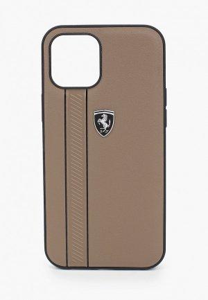 Чехол для iPhone Ferrari 12 Pro Max (6.7). Цвет: коричневый