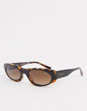 Квадратные солнцезащитные очки в черепаховой оправе 0VO5316S-Коричневый Vogue