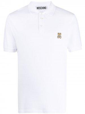 Рубашка поло с вышивкой Teddy Moschino. Цвет: белый