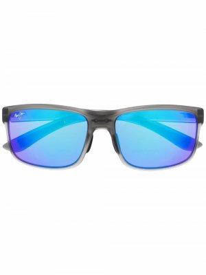 Солнцезащитные очки с логотипом Maui Jim. Цвет: серый