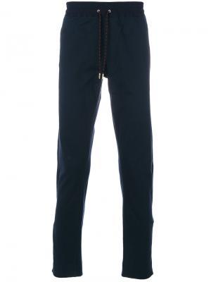 Классические спортивные брюки Burberry. Цвет: синий