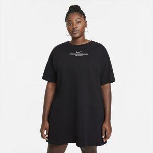 Платье Sportswear Swoosh (большие размеры) - Черный Nike