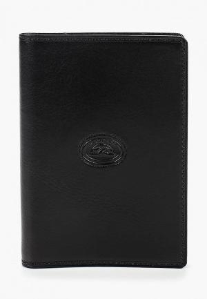 Обложка для паспорта Tony Perotti. Цвет: черный