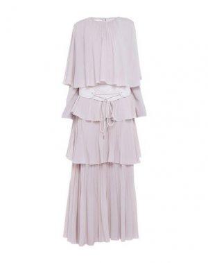 Длинное платье ANTONIO BERARDI. Цвет: светло-розовый