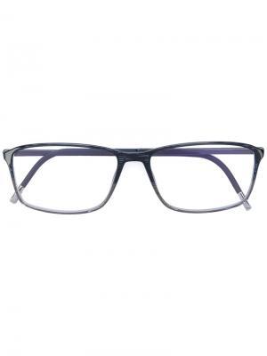 Солнцезащитные очки в квадратной оправе Silhouette. Цвет: чёрный