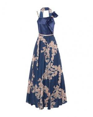 Длинное платье MIKAEL. Цвет: синий
