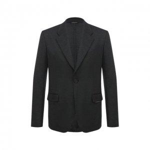 Шерстяной пиджак Givenchy. Цвет: серый