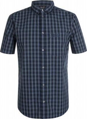 Рубашка с коротким рукавом мужская Jack Wolfskin Hot Springs, размер 46-48. Цвет: синий