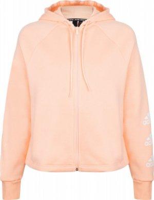 Толстовка женская adidas Stacked, размер 38-40. Цвет: розовый