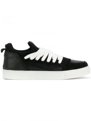 Кроссовки на шнуровке Kris Van Assche. Цвет: чёрный