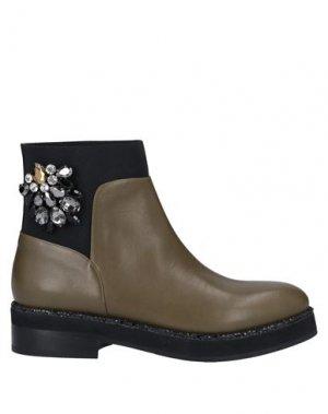 Полусапоги и высокие ботинки ALBERTO GOZZI. Цвет: зеленый-милитари