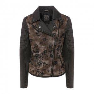 Джинсовая куртка Genuine Motorclothes Harley-Davidson. Цвет: коричневый