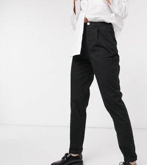 Черные брюки чиносы ASOS DESIGN Tall-Черный Tall