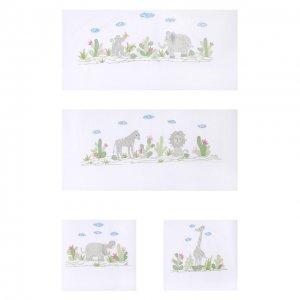 Комплект из 4 бортиков для детской кроватки Loretta Caponi. Цвет: белый