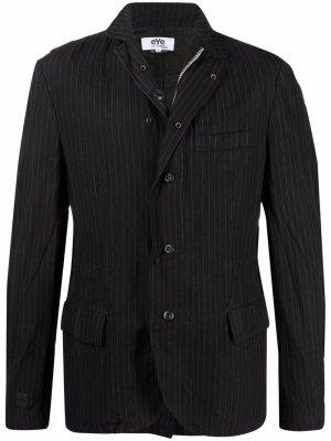 Однобортный пиджак в полоску Junya Watanabe MAN. Цвет: черный