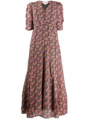Платье макси с цветочным принтом Antik Batik