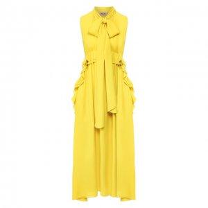 Платье-миди No. 21. Цвет: жёлтый