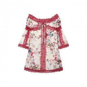 Платье из вискозы Charo Ruiz Ibiza. Цвет: разноцветный