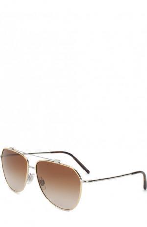Солнцезащитные очки Dolce & Gabbana. Цвет: коричневый