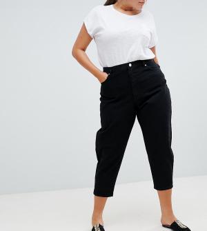 Черные джинсы бойфренда ASOS DESIGN Curve-Черный Curve