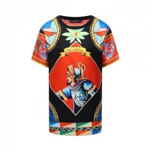 Шелковый топ Dolce & Gabbana. Цвет: разноцветный