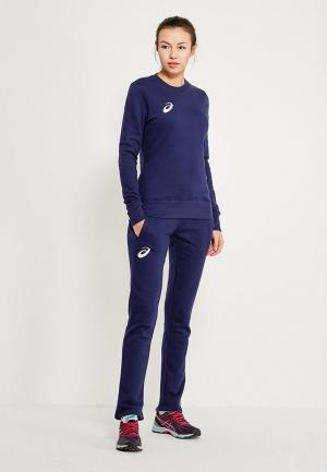 Костюм спортивный ASICS WOMAN FLEECE SUIT. Цвет: синий