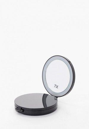 Зеркало Camelion M216-DL, d 9 см. Цвет: черный