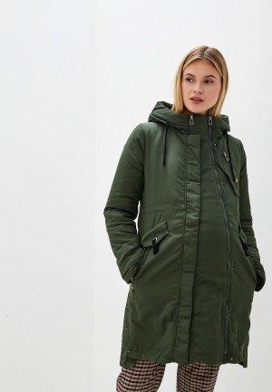Куртка утепленная I Love Mum Мехико. Цвет: хаки