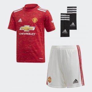 Комплект: футболка и шорты Манчестер Юнайтед 20/21 Home Performance adidas. Цвет: красный