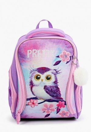 Рюкзак и пенал Berlingo Nova Owl. Цвет: розовый