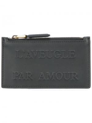 Визитница LAveugle Par Amour Gucci. Цвет: черный